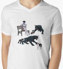 Gozer at the Dog Park Mens V-Neck T-Shirt