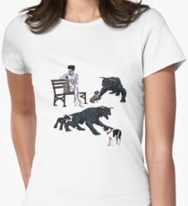 Gozer at the Dog Park Women's Fitted T-Shirt