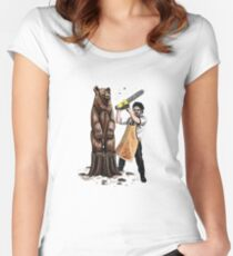 Leatherface's Secret Hobby Women's Fitted Scoop T-Shirt
