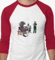 Alien Takes Jonesy to the Vet Men's Baseball ¾ T-Shirt