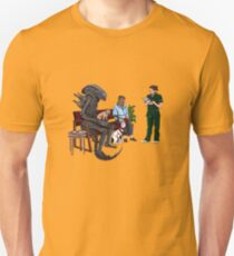 Alien Takes Jonesy to the Vet T-Shirt