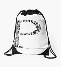 P Shadow | Typography Drawstring Bag