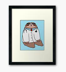 Doctor Sloth Framed Print
