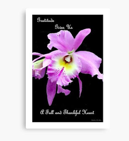 Gratitude Gives Us A Full And Thankfull Heart Canvas Print