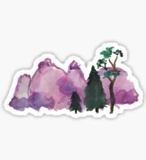 Watercolor Nature and Pinetrees Sticker