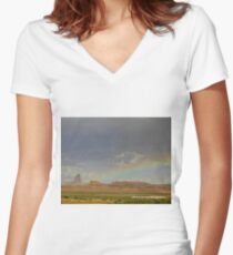 Arizona Rainbow Women's Fitted V-Neck T-Shirt