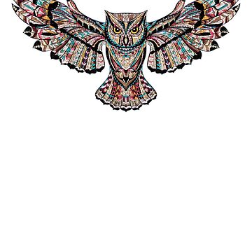 Mosaic Owl by funnyfuntees