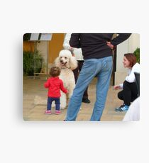 Child and Dog Canvas Print