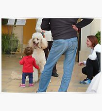 Child and Dog Poster