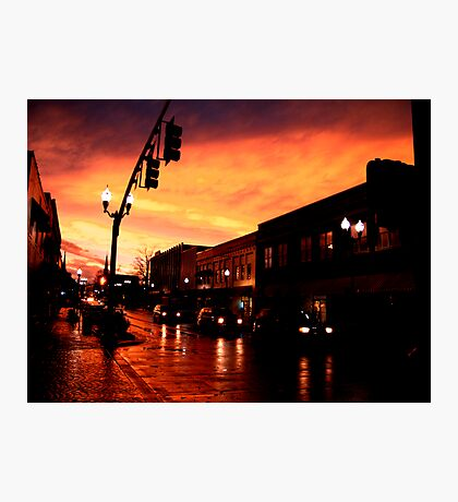 Red Sky at Dusk Photographic Print
