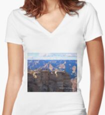 Grand Canyon Viewing Area Women's Fitted V-Neck T-Shirt