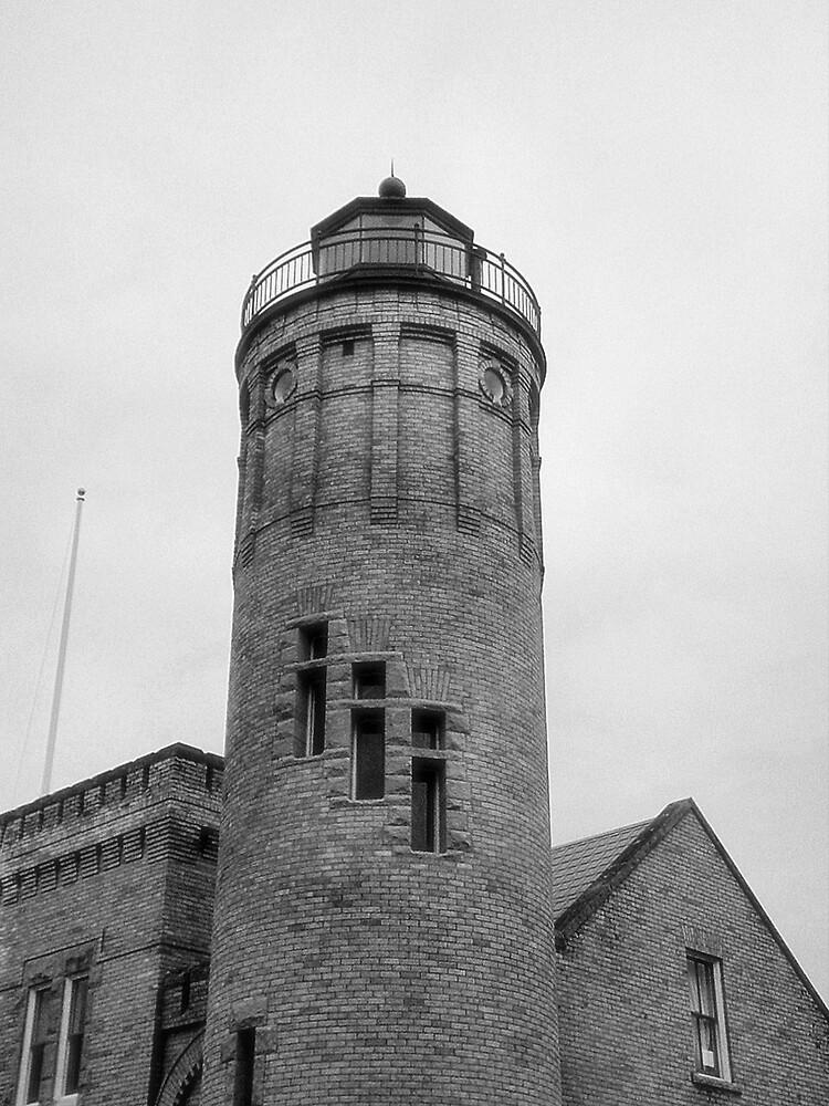 Old Mackinac Point Lighthouse Light Tower by Erika Benoit