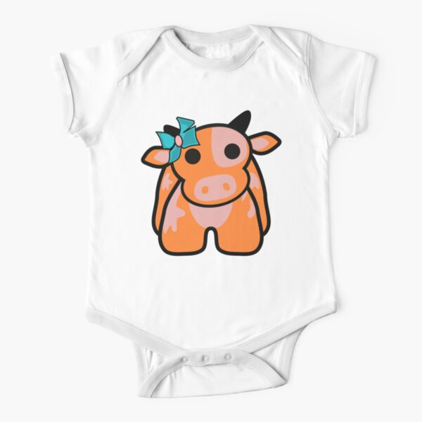 Free the Vegan Cow Chummy  Short Sleeve Baby One-Piece