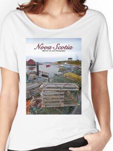 Nova Scotia - Peggy's Cove Harbor Women's Relaxed Fit T-Shirt
