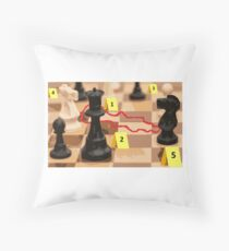 "funny design ""Chess Scene, Do not disturb"" by NewPleasure Throw Pillow"