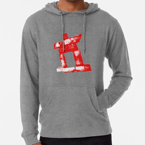 Canada rock man -RED- Lightweight Hoodie