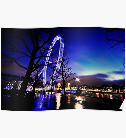 The Millennium Wheel an artistic perspective Poster