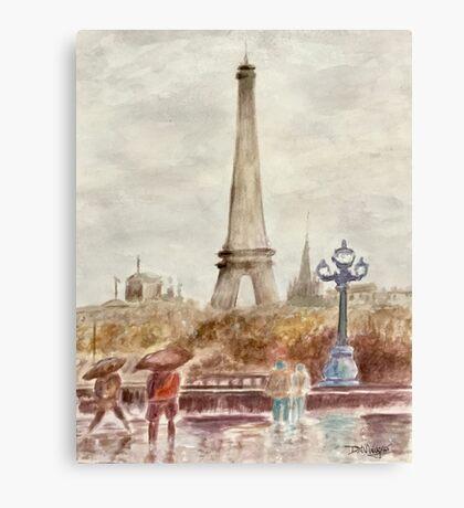 Misty Paris Canvas Print