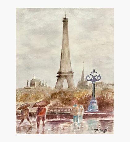 Misty Paris Photographic Print