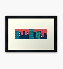 Comic Strip Colorful Skyline Framed Print
