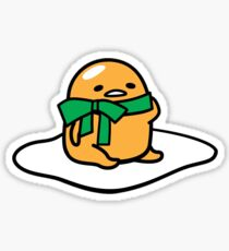 Green Bow Gudetama Sticker