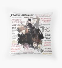 Malec Quotes - Season 2A  Throw Pillow