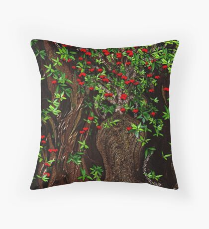 A Pretty Poppy Tree,, did you ever see one Throw Pillow
