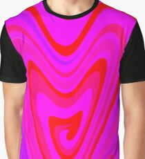 Pink Heart Psicodelia Graphic T-Shirt