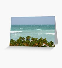 Gulf of Mexico sailing Greeting Card