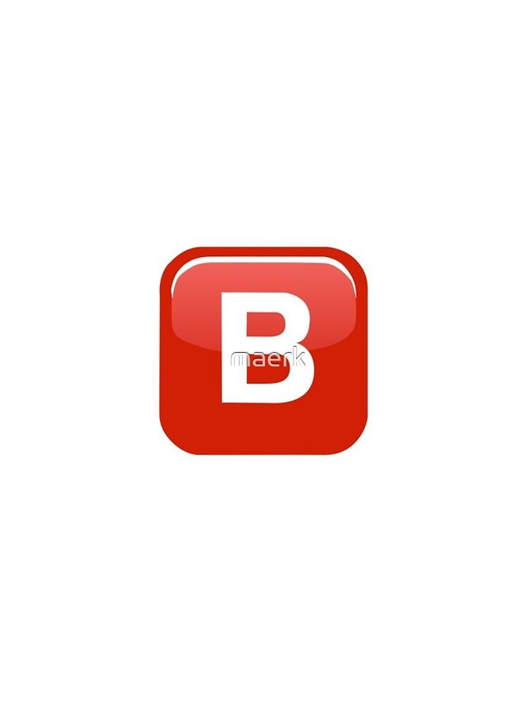 B Emoji de maerk