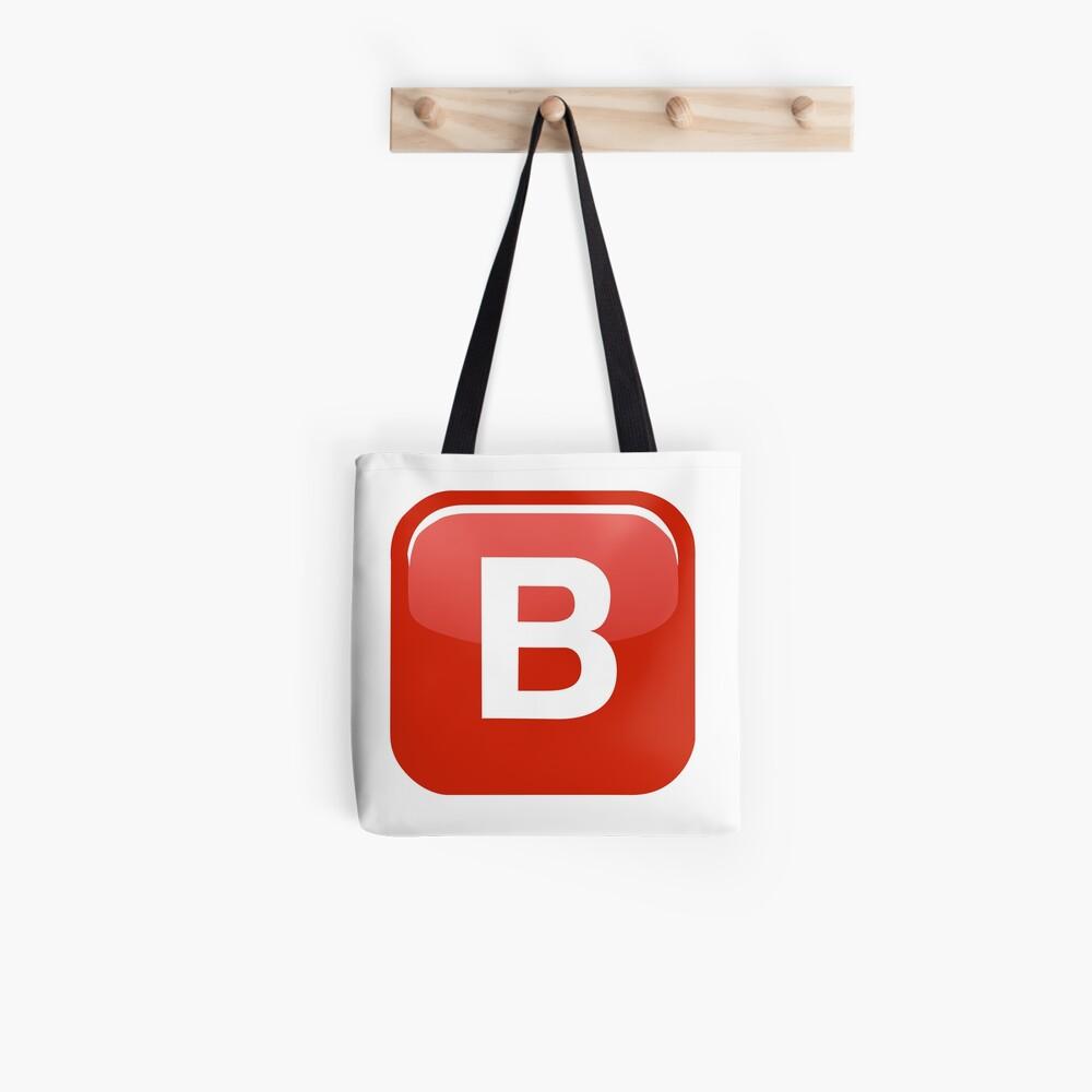 B Emoji Bolsa de tela