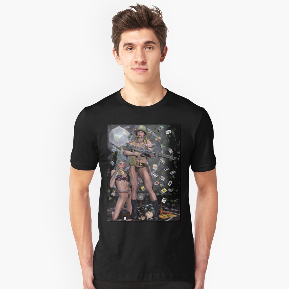 Hippie Witch First Earth Battalion Slim Fit T-Shirt