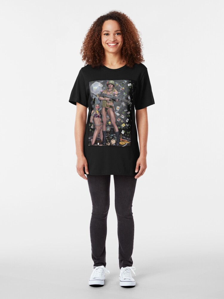 Alternate view of Hippie Witch First Earth Battalion Slim Fit T-Shirt