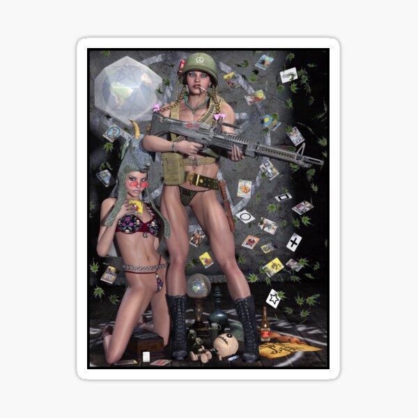 Hippie Witch First Earth Battalion Sticker
