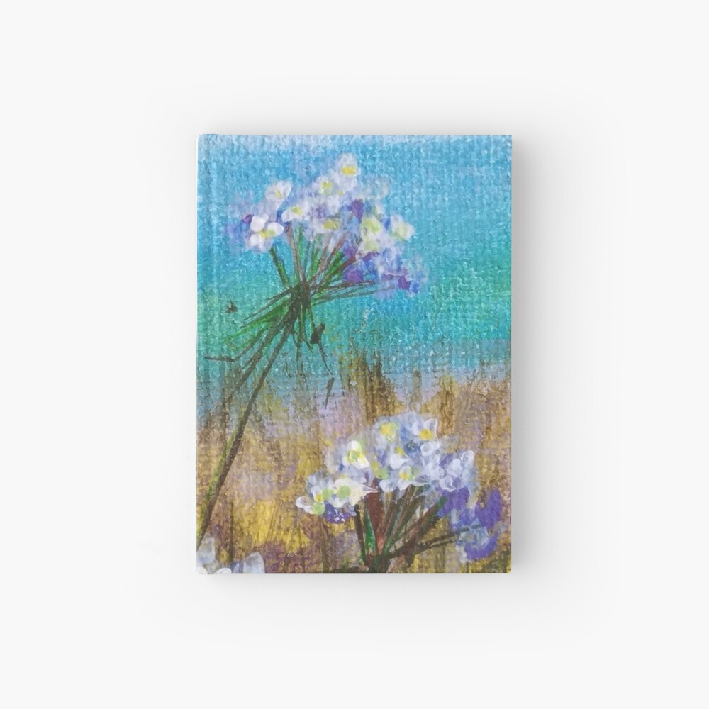 Queen Anna Lace flowers Hardcover Journal