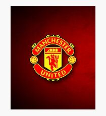 Manchester United logo Photographic Print