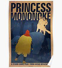 Princess Mononoke - Night Poster
