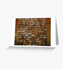Comic Abstract Wall of Spices Greeting Card
