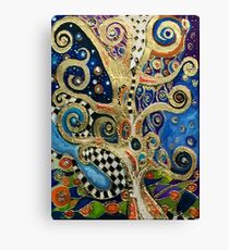 The Changing Seasons of Klimt Canvas Print