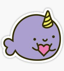 Nara the Narwhal in Love Sticker