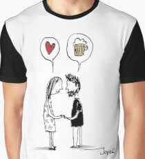 love & beer Graphic T-Shirt