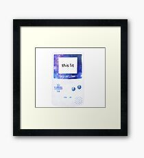 this game boy is lit Framed Print