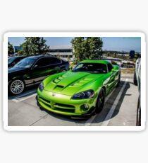 Green viper Sticker