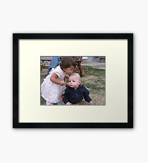 Aunt and Nephew Framed Print