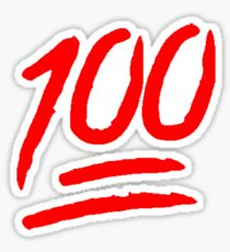 100 [Red] Sticker