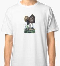 antique typographic vintage mushrooms toadstools Classic T-Shirt