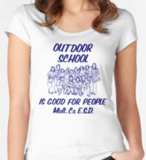 Outdoor School is Good for People Women's Fitted Scoop T-Shirt