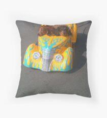 Dashund Driving Throw Pillow
