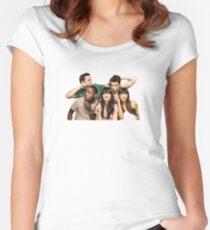 Neues Mädchen Tailliertes Rundhals-Shirt
