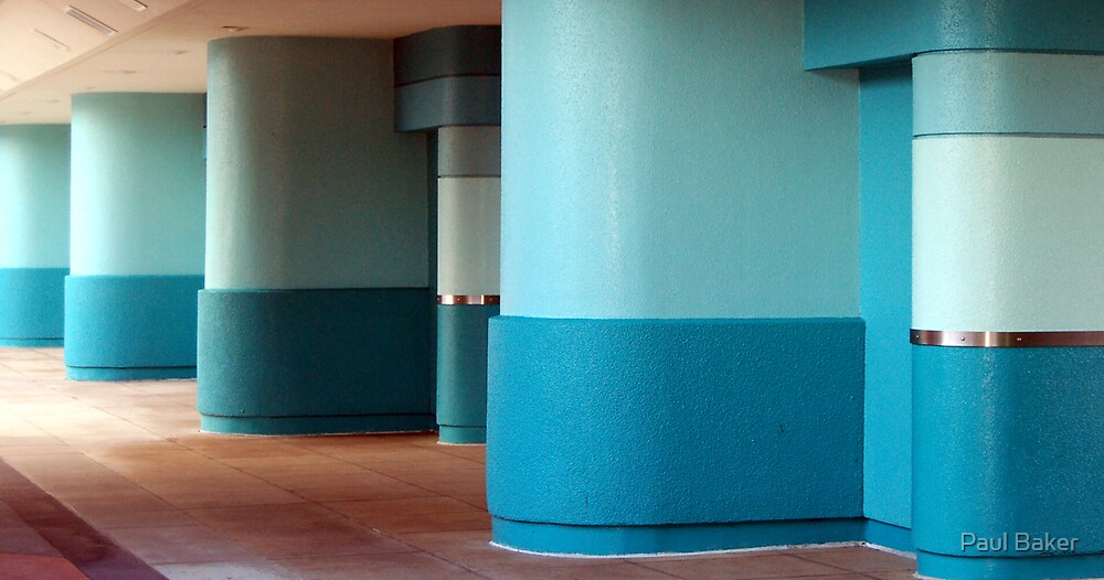 Blue Pillars by Paul Baker